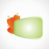 Label peppers. Blank for text, Green vector format Stock Photography