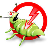 Label of pest control Stock Photo