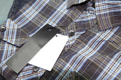 Label of Plaid shirts Royalty Free Stock Image