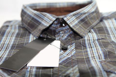 Label of Plaid shirts Royalty Free Stock Photos