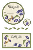 Label plum jam Royalty Free Stock Photography