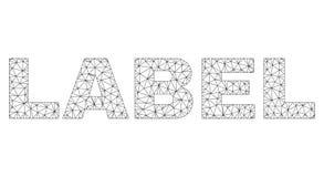 Label polygonal des textes de LABEL de carcasse illustration libre de droits