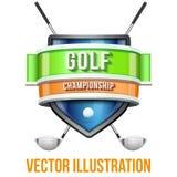 Label pour la compétition sportive de golf Prime lumineuse Images libres de droits