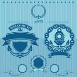Label pour le travail sous-marin Images libres de droits