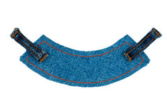 Label, price tag with two straps jeans ,  Royalty Free Stock Images
