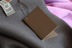 Label (price tag) on wear Stock Images