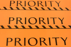 Label priority for baggage Royalty Free Stock Image
