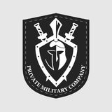 Label of the private military company. On the image presented Label of the private military company Stock Photos