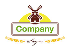 Label for the products of agro-based company Stock Photos