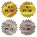 label pur de garantie de 100% Photographie stock