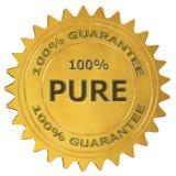 label pur de garantie de 100% Images libres de droits