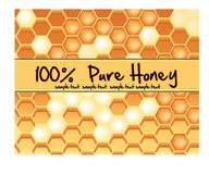 Label for Pure honey Stock Photo