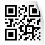 Label with qr code Stock Images