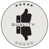 Label of quality assessment Stock Image