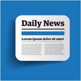 Label quotidien d'actualités illustration libre de droits