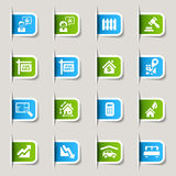 Label - Real estate icons Royalty Free Stock Image