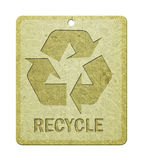 Label with recycle symbol. Stock Images
