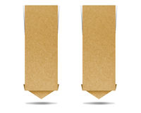 Label recycled paper. Craft for make note stick Royalty Free Stock Photos