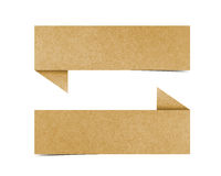 Label recycled paper. Craft for make note stick on white background Royalty Free Stock Photos