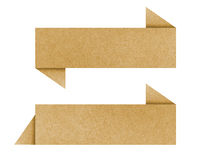 Label recycled paper craft. For make note stick on white background Stock Images