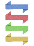 Label recycled paper craft for make note stick. On white background Royalty Free Stock Images