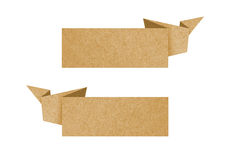Label recycled paper craft for make note stick Stock Photography