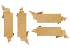 Label recycled paper craft for make note stick Stock Photos