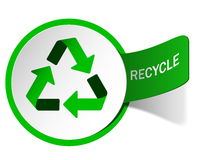 Label recycling emblem Stock Photos