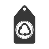 label with recycling symbol icon Royalty Free Stock Photography