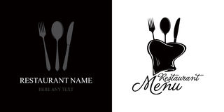 Label for restaurant menu. Vector available Royalty Free Illustration