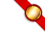 Label with Ribbon Isolated on White Background Royalty Free Stock Images