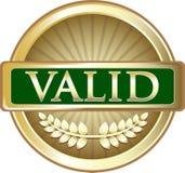 Label rond de vintage valide d'or illustration libre de droits
