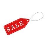 Label rouge de vente Images stock