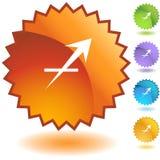 Label - Sagittarius Royalty Free Stock Photography