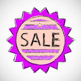 Label sale. Royalty Free Stock Photo