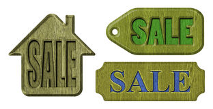 Label sale Stock Image