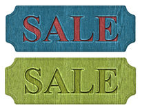 Label sale. On a white background Stock Photos