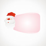 Label Santa Claus. Santa Claus blank label for text pink vector format Royalty Free Stock Photography
