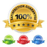 Label satisfaction guarantee Stock Photo