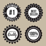 Label seal Collection of Premium Quality. Collection of Premium Quality, 100%,#1,Best Seller unique seal labels with retro vintage styled design Stock Images