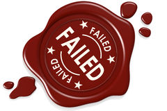 Label seal of failed. Isolated on white background, 3D rendering Royalty Free Stock Photography