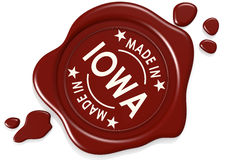 Label seal of Made in Iowa Royalty Free Stock Images