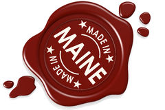 Label seal of Made in Maine Stock Photography