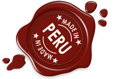 Label seal of made in Peru Royalty Free Stock Photography