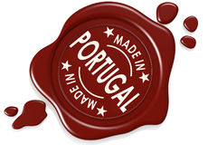 Label seal of made in Portugal Stock Photography