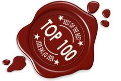 Label seal of top 100 Stock Photography