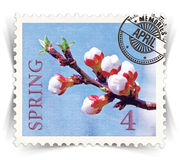 Label for seasonal products ads or calendars stylized as post stamp Royalty Free Stock Images