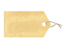 Label with sepia paper texture, isolated on white. Background Royalty Free Stock Photo