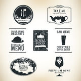 Label set. For restaurant and cafe Stock Images