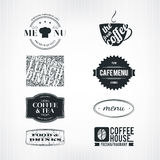 Label set. For restaurant and cafe Royalty Free Stock Image